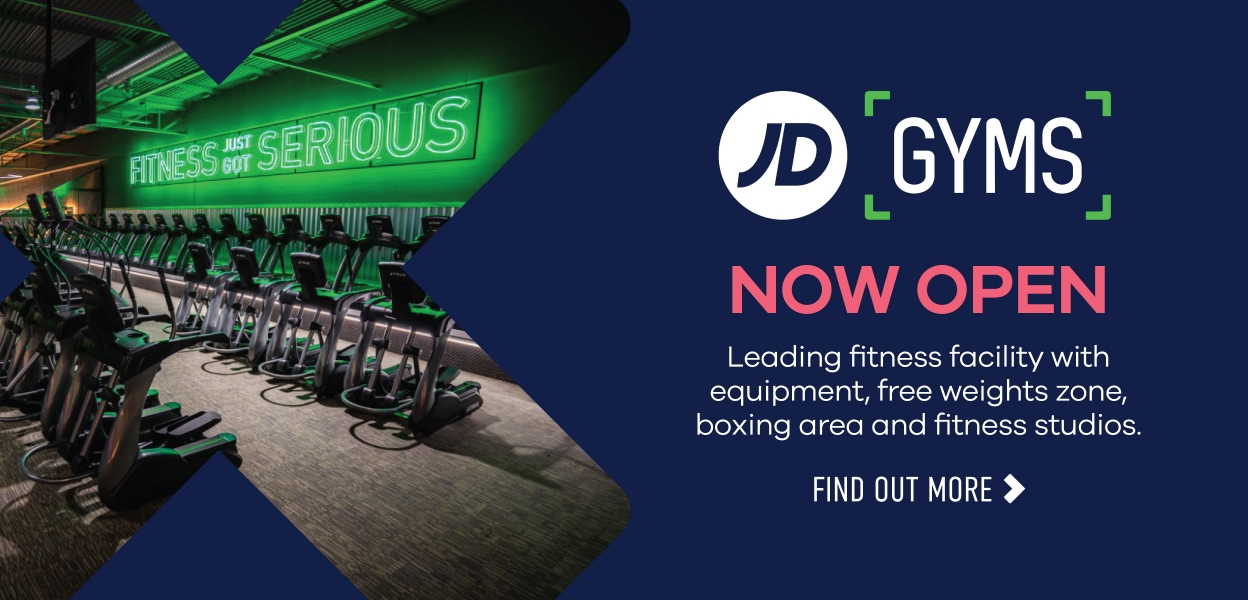 JD Gyms now open at Xscape Yorkshire Castleford