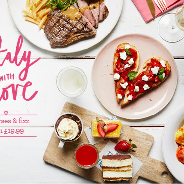 Valentine's Day Meal Deal at Bella Italia