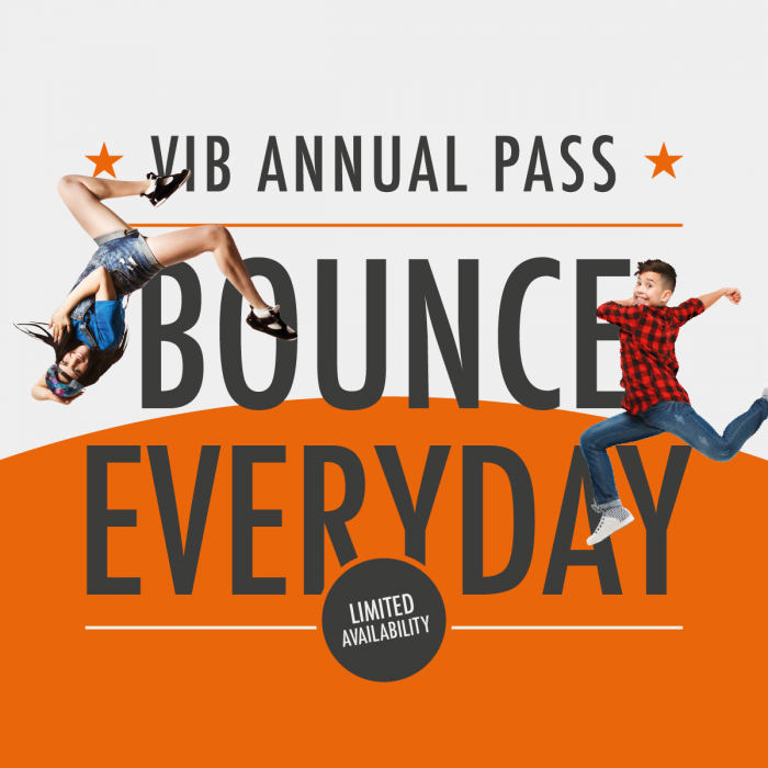 VIB Annual Pass at Gravity Trampoline Parks Xscape