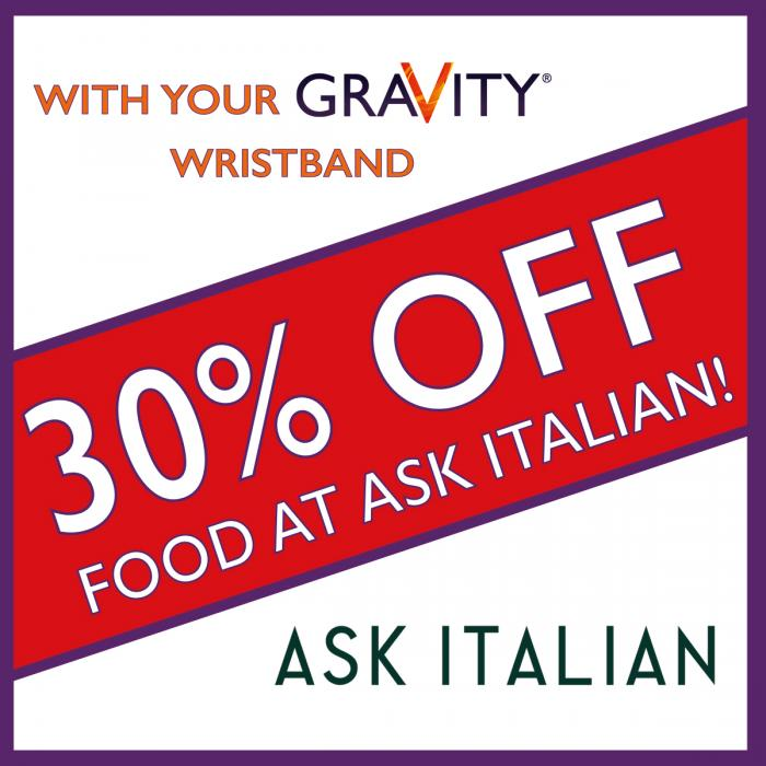 Bounce and dine offer at Xscape with Ask Italian and Gravity