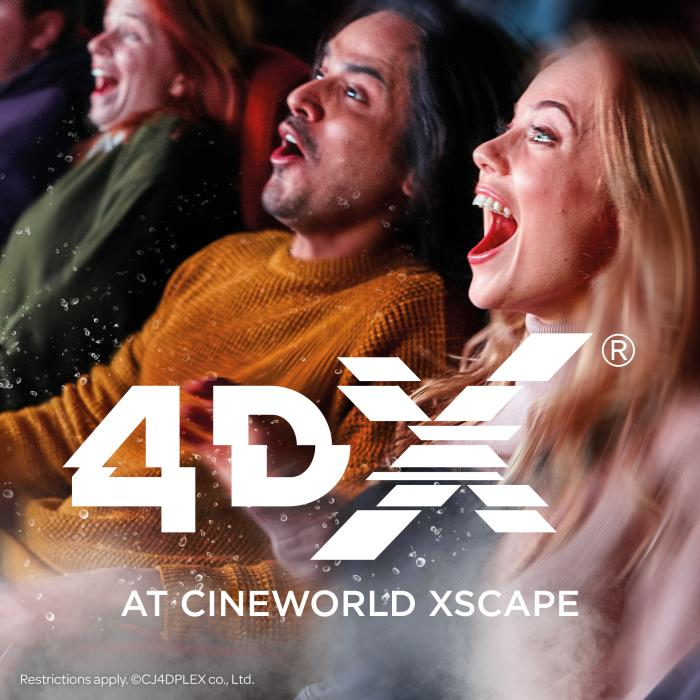 4DX is coming to Cineworld Xscape Yorkshire
