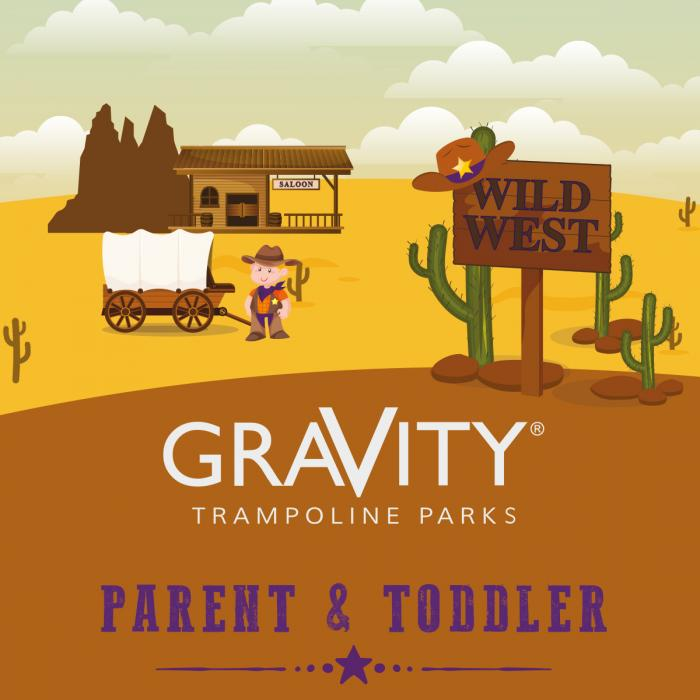 Parent and toddler session at Gravity Trampoline Parks
