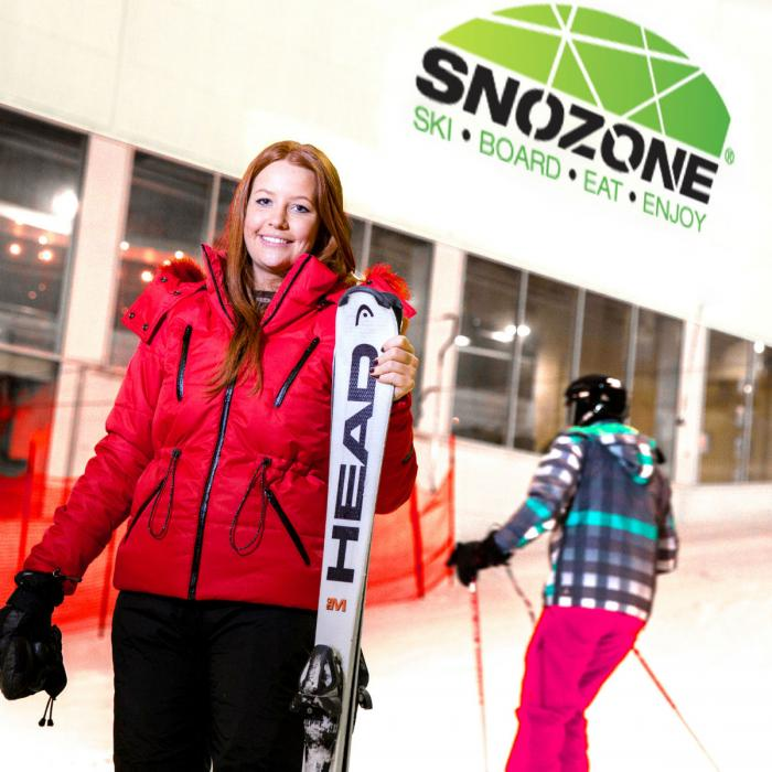 On the real snow slope at Snozone in Xscape