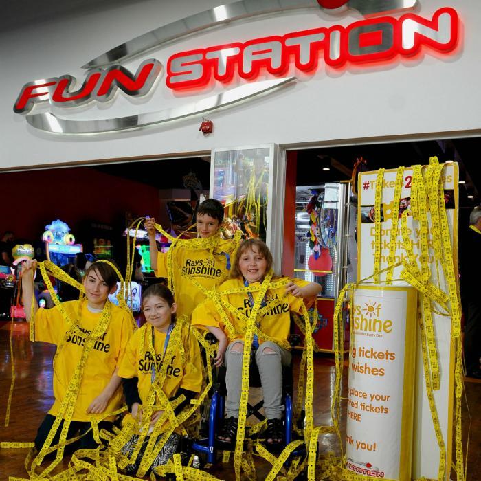 Funstation Tickets2Wishes Initiative Rays of Sunshine Xscape Yorkshire