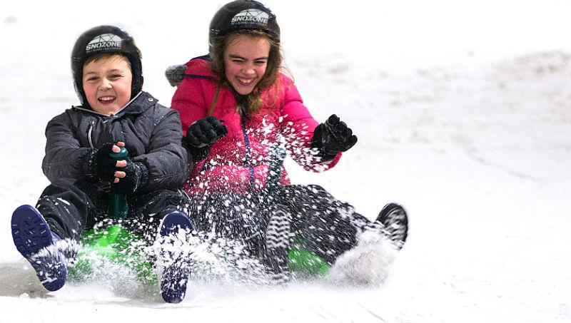 Sledging at Snozone Easter Holiday Offer