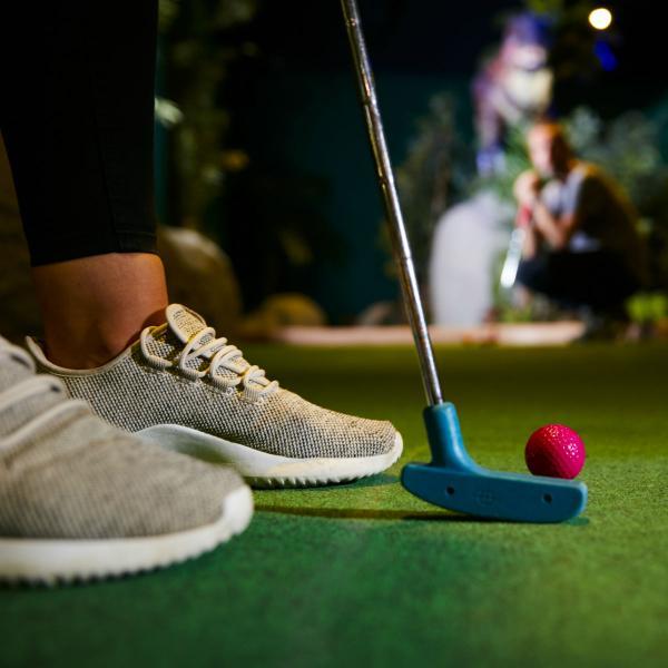 Indoor adventure golf at Xscape Yorkshire Castleford